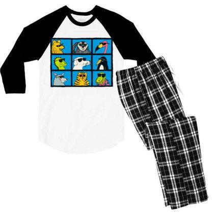 All Glasses Cute Friend Modern Baseball Men's 3/4 Sleeve Pajama Set Designed By Nugrahadamanik