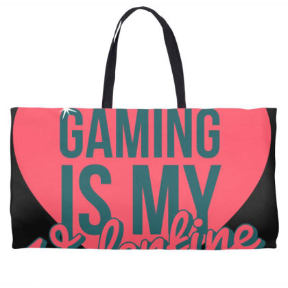 Gaming Is My Valentine Weekender Totes Designed By Cloudystars