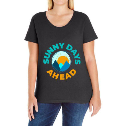 Sunny Days Ahead Classic T Shirt Ladies Curvy T-shirt Designed By Moon99