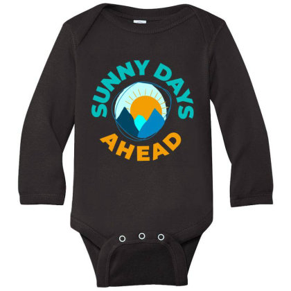 Sunny Days Ahead Classic T Shirt Long Sleeve Baby Bodysuit Designed By Moon99