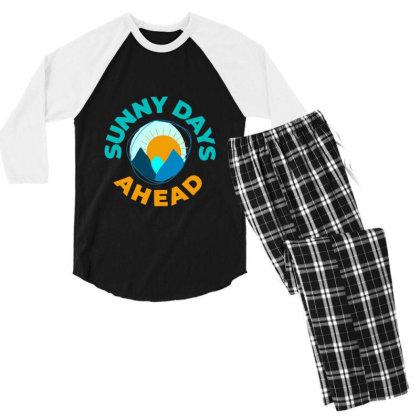 Sunny Days Ahead Classic T Shirt Men's 3/4 Sleeve Pajama Set Designed By Moon99