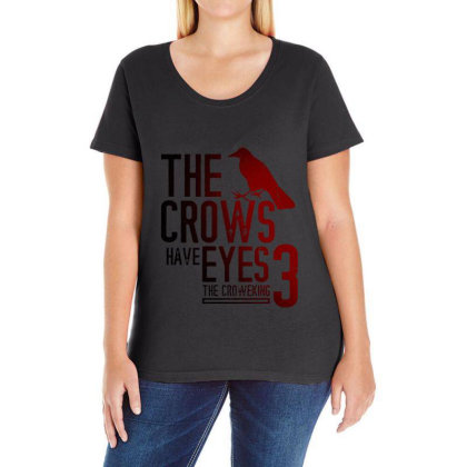 The Crows Have Eyes 3 Classic T Shirt Ladies Curvy T-shirt Designed By Moon99