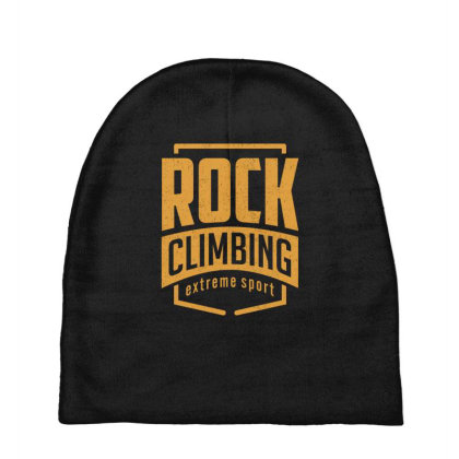 Rock Climbing - Extreme Sport Gift Baby Beanies Designed By Cidolopez