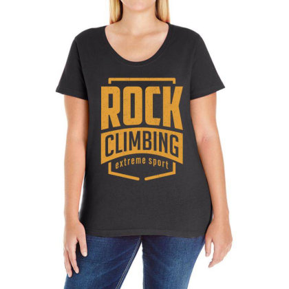 Rock Climbing - Extreme Sport Gift Ladies Curvy T-shirt Designed By Cidolopez