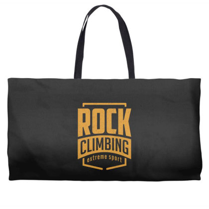 Rock Climbing - Extreme Sport Gift Weekender Totes Designed By Cidolopez