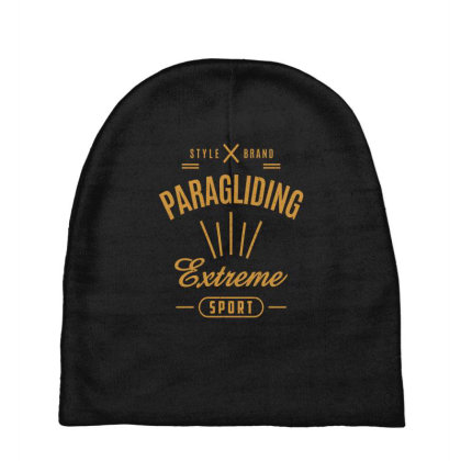 Paragliding - Extreme Sport Gift Baby Beanies Designed By Cidolopez