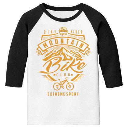 Mountain Bike - Extreme Sport Gift Youth 3/4 Sleeve Designed By Cidolopez