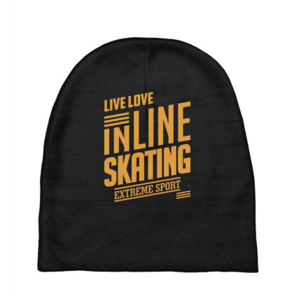 Inline Skating - Extreme Sport Gift Baby Beanies Designed By Cidolopez