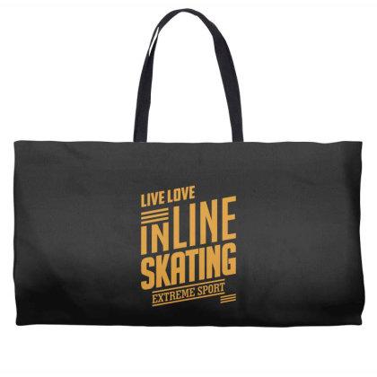 Inline Skating - Extreme Sport Gift Weekender Totes Designed By Cidolopez