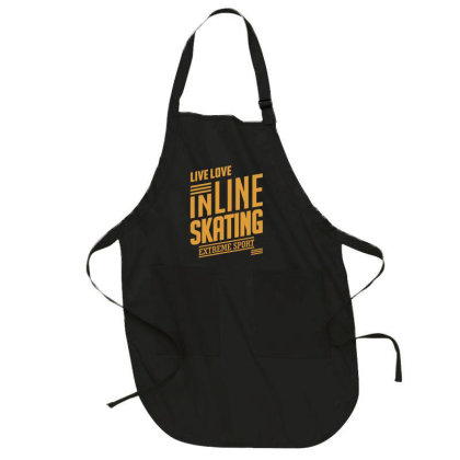 Inline Skating - Extreme Sport Gift Full-length Apron Designed By Cidolopez