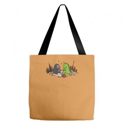 Godzilla By Kingkong Picnic Tote Bags Designed By Gematees