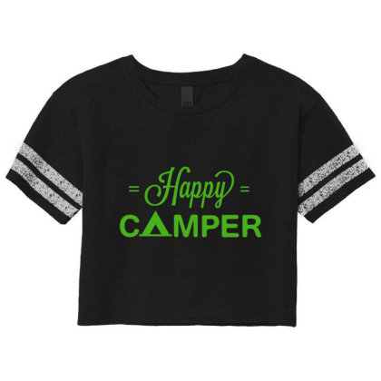 Happy Camper Scorecard Crop Tee Designed By Kahvel