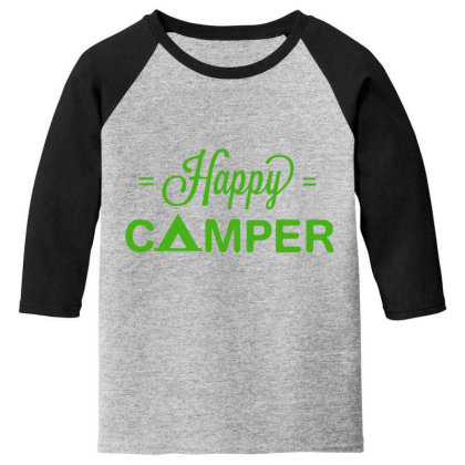 Happy Camper Youth 3/4 Sleeve Designed By Kahvel