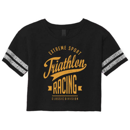 Triathlon Racing - Extreme Sport Gift Scorecard Crop Tee Designed By Cidolopez