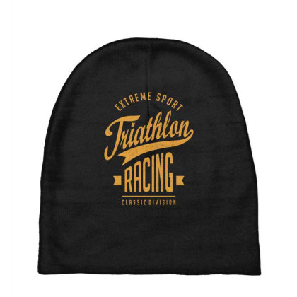 Triathlon Racing - Extreme Sport Gift Baby Beanies Designed By Cidolopez