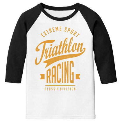 Triathlon Racing - Extreme Sport Gift Youth 3/4 Sleeve Designed By Cidolopez