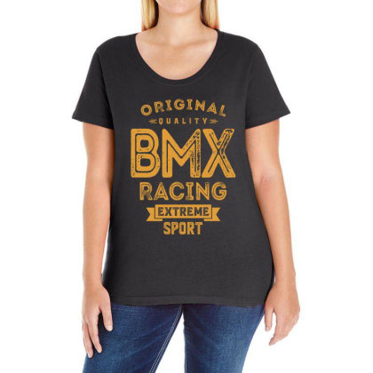 Bmx Racing - Extreme Sport Gift Ladies Curvy T-shirt Designed By Cidolopez