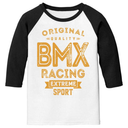 Bmx Racing - Extreme Sport Gift Youth 3/4 Sleeve Designed By Cidolopez