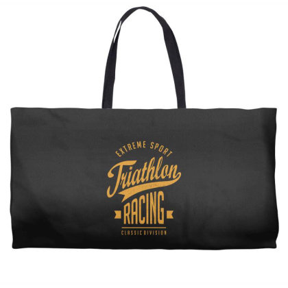 Triathlon Racing - Extreme Sport Gift Weekender Totes Designed By Cidolopez