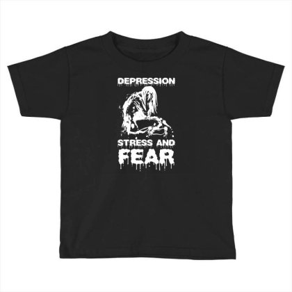 Depression, Stress And Fear Toddler T-shirt Designed By Enjang