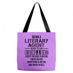 Being a Literary Agent is like Riding a Bike Tote Bags | Artistshot