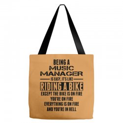 Being a Music Manager Is Like Riding Bike Tote Bags | Artistshot