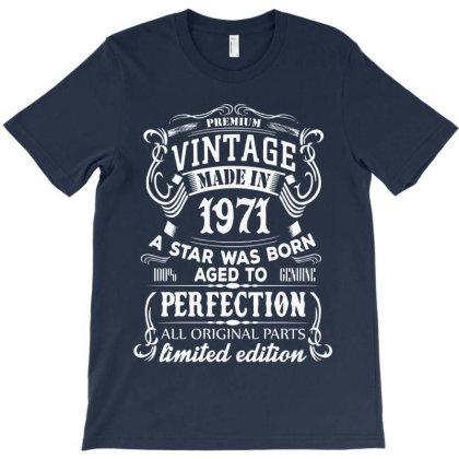 Vintage 1971 For Dark T-shirt Designed By 4905 Designer