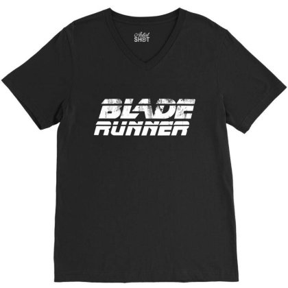Blade Runner 1982 Film V-neck Tee Designed By Rosdiana Tees
