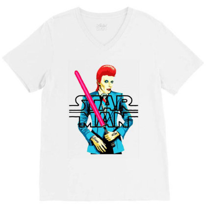 A Star Man V-neck Tee Designed By Hot Trends