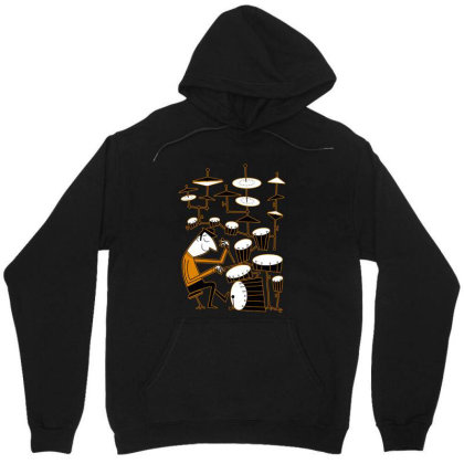 Play That Beat Drummer Funny Unisex Hoodie Designed By Alpha Art
