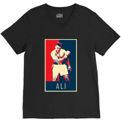 Pop Art Boxer V-neck Tee Designed By Alpha Art