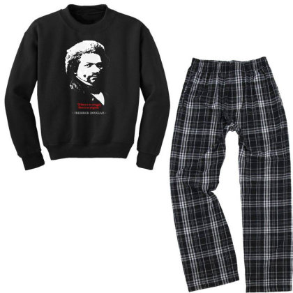 Frederick Douglas Quote Youth Sweatshirt Pajama Set Designed By 4905 Designer