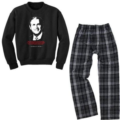 George W Bush Quote Youth Sweatshirt Pajama Set Designed By 4905 Designer