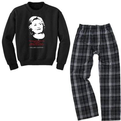 Hillary Clinton Quote Youth Sweatshirt Pajama Set Designed By 4905 Designer