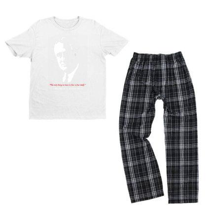 Franklin D Roosevelt Quote Youth T-shirt Pajama Set Designed By 4905 Designer