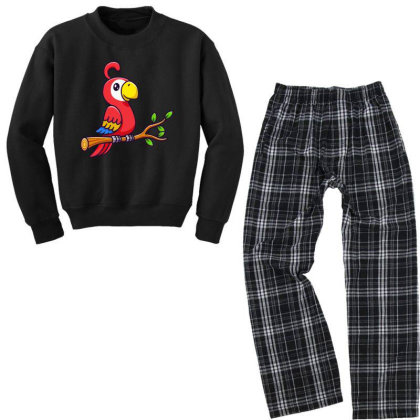A Parrot Youth Sweatshirt Pajama Set Designed By Hot Trends