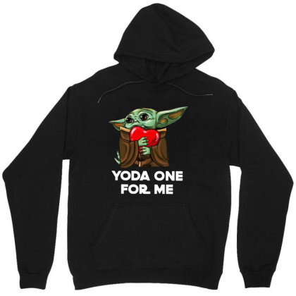 Funny Yoda One For Me Unisex Hoodie Designed By Alpha Art