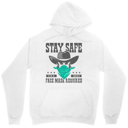 Face Mask Cowboy Outlaw Unisex Hoodie Designed By Designisfun