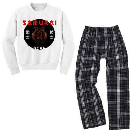 A Japanese Samurai Bear Youth Sweatshirt Pajama Set Designed By Hot Trends