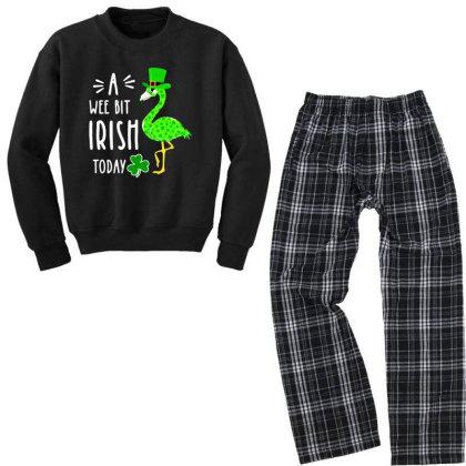 A Wee Bit Irish Today Youth Sweatshirt Pajama Set Designed By Rosdiana Tees