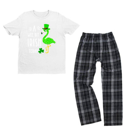 A Wee Bit Irish Today Youth T-shirt Pajama Set Designed By Rosdiana Tees