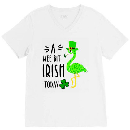 A Wee Bit Irish Today V-neck Tee Designed By Rosdiana Tees