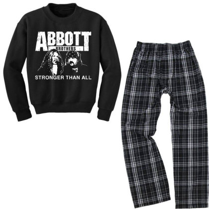 Abbott Brothers Stronger Than All Youth Sweatshirt Pajama Set Designed By Rosdiana Tees