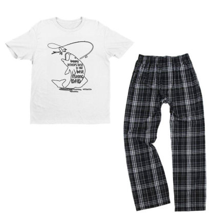 Happy Father's Day To The Best Fishing Dad Youth T-shirt Pajama Set Designed By Alpha Art