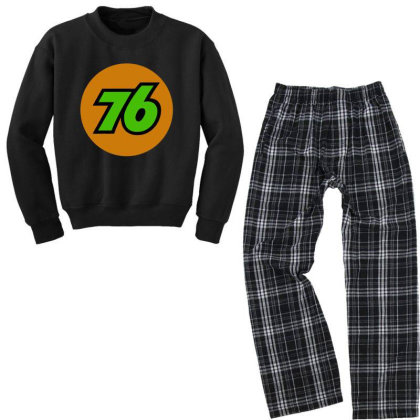 76 Oil Union Vintage Youth Sweatshirt Pajama Set Designed By Hot Trends