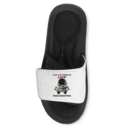 All You Need Is Love More Horsepower Slide Sandal Designed By Rosdiana Tees