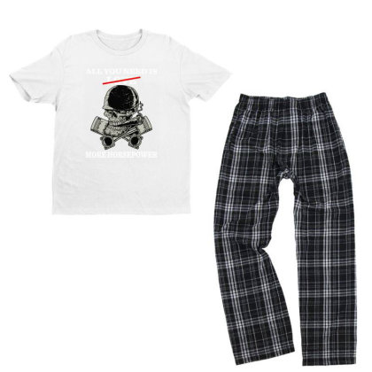 All You Need Is Love More Horsepower Youth T-shirt Pajama Set Designed By Rosdiana Tees