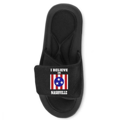 I Believe Nashville Slide Sandal Designed By Alpha Art