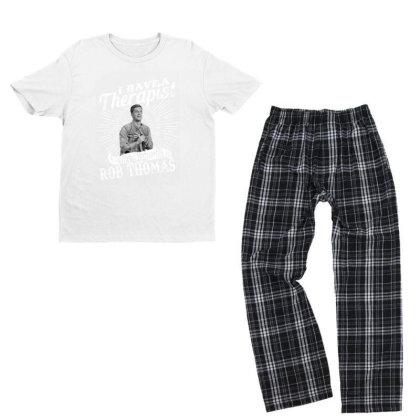 I Have A Therapist His Name Is Singer Youth T-shirt Pajama Set Designed By Alpha Art