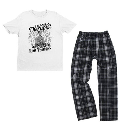 I Have A Therapist His Name Is Rob Thomas Youth T-shirt Pajama Set Designed By Alpha Art